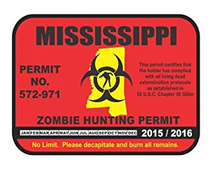 Mississippi state zombie hunting permit for Fishing license ms