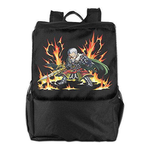 CYANY Brave Frontier Japanese Mobile Role-playing Game Shoulder Bags Camping Black Backpack For Men & Women Teens College (Gems For Brave Frontier compare prices)