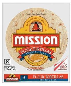 Amazon.com: Mission Large Burrito Flour Tortillas, 8