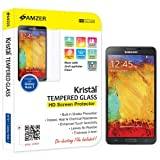 Amzer 96701 Amzer® KristalTM Tempered Glass Screen Protector For Samsung GALAXY Note 3 SM-N9000, Samsung GALAXY...