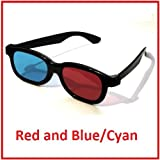 Plastic Frame 3D Glasses Red and Blue/Cyan - For 3D DVD and Blu Ray - Anaglyphby 3DGB