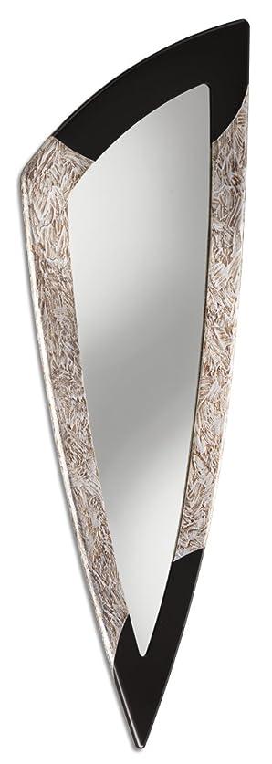 Pintdecor Spike Specchiera, Mdf, Argento/ Laccata Caffe, 190x63x3 cm