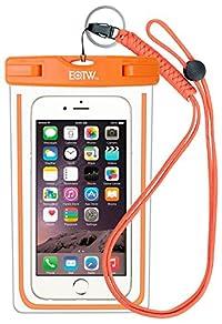 iPhone6/Samsung 防水ケース EOTW® 防水携帯ケース アウトドア潜水 温泉 釣り お風呂 水泳 砂浜等最適な防水袋 スマホケース・カバー 救助用ネックストラップ付属 防水国際保護等級:IPX8認定獲得 iPhone 6 Plus/ Samsung Galaxy/Nexus/Sonyなど全機種対応 スマートフォン用防水・防塵ケース