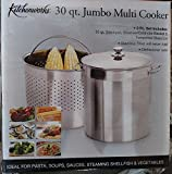 30 Quart Stainless Steel Jumbo Multi Cooker / Stockpot / Steamer / Colander
