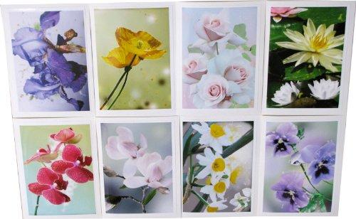 Assorted Flower Greeting Cards Handmade Floral Notecards Botanical Signed Prints Art Cards