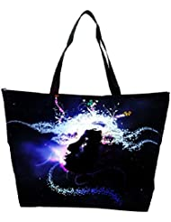 Snoogg Abstract Girl Designer Waterproof Bag Made Of High Strength Nylon