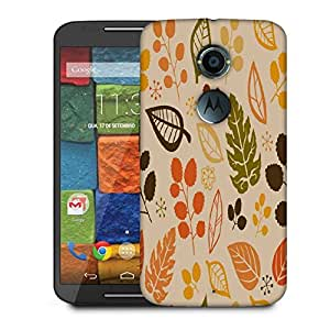 Snoogg Colorful Leaves Designer Protective Phone Back Case Cover For Moto X 2nd Generation