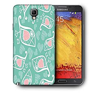Snoogg White Birds Blue Pattern Printed Protective Phone Back Case Cover For Samsung Galaxy NOTE 3 NEO / Note III