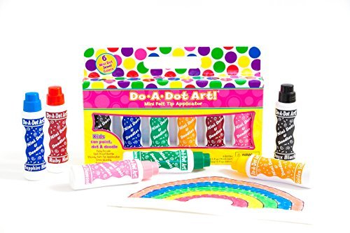 Do A Dot Art! Mini Dots & Doodles Jewel Tone 6-Pack Colorful & Washable Paint Markers, The Original Dot Marker, Great Kids Markers For Preschool, Elementary Coloring and Dotting (6 pcs) (Dot Makers For Kids compare prices)