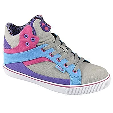 New Womens Ladies Pastry Pt Sweet Crime Hi Top Trainers (UK 5.5, Grey Textile)