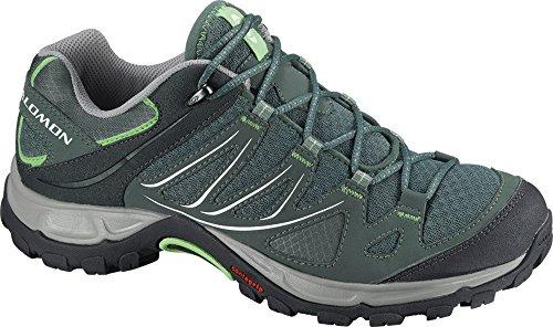 Salomon Women's Ellipse Aero W Hiking Shoe,Light Titanium/Titanium/Lizard Green,8.5 M US