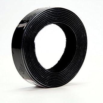 3M Fastener TB3571/TB3572 Hook/Loop Black, 1 in (25.4mm) x 10 ft (3.05m) (1 Mated Strip/Bag)