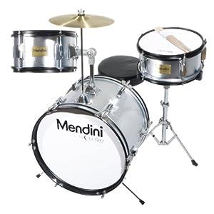 Mendini 3-Piece 16-Inch Junior Drum Set - MJDS-3 by Cecilio Musical Instruments