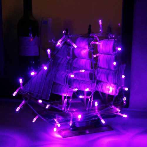 30 Battery operated Purple LED string lights For Decoration, Durable, New eBay