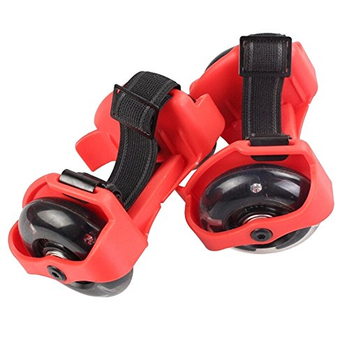 Flash Heelys Roller Skates/ Ruote da scarpe regolabile Hot Wheels Skating Scarpe,16.5 x 9 x8 cm, Rosso