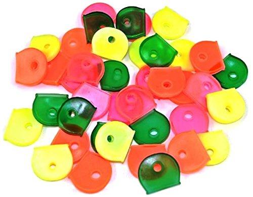 Bulk Hardware - Coprichiavi assortiti, 24 pezzi, colori fluo