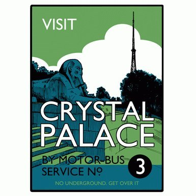 Visit Crystal Palace'' Print by Beyond Thrilled