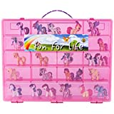 My Little Pony Compatible Organizer Strawberry/Pink - Fun for LifeTM is Pefect My Little Pony Compatible Storage Case Fits up to Approx 80 Little Pony Figures