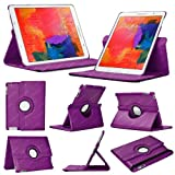 Stuff4 Case with 360 Degree Rotating Swivel Action and Screen Protector/Stylus Touch Pen for 8.4 inch Samsung Galaxy Tab Pro T320/T321/T325 - Purple