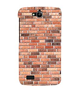 Simple Bricks Wallpaper 3D Hard Polycarbonate Designer Back Case Cover for Huawei Honor Holly :: Honor Holly