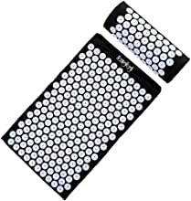 HemingWeigh Complete Acupressure Mat and Pillow Set with Bonus Carry Bag (Black)