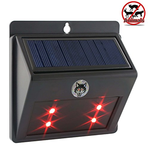 MOKOQI Predator Eyes Animal Deterrent Repeller Solar Powered Lights with Storage Battery & Auto Star-up Nighttime Simulate Fire Towards Wildlife Nocturnal Animals (Predator Whistle compare prices)