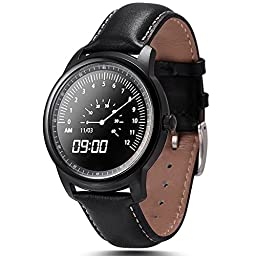 Lemfo Lem1 Smart Watch Bluetooth Wristwatch Full HD IPS Fitness Tracker for Android iOS (Black)