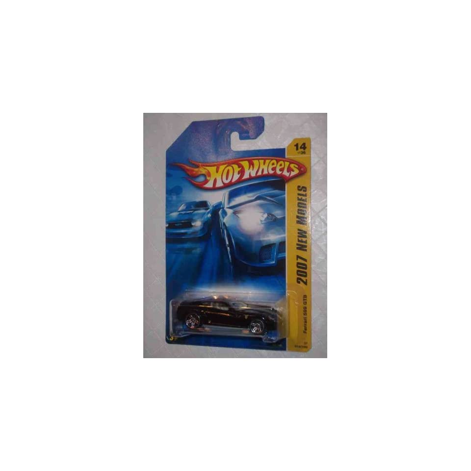 2007 New Models  #14 Ferrari 599 GTB Black #2007 14 Collectible Collector Car Mattel Hot Wheels 164 Scale
