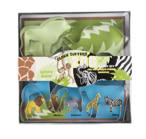 Fox Run 5 Piece Zoo Animal Cookie Cutter Set