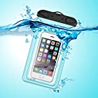 Waterproof Case, Waterproof Pouch, iThrough Ultra Universal Waterproof Pouch, Waterproof Case with 3.5mm AUX Cable, Touch Responsive Transparent Screen Protector for iPhone 6/6 Plus/5/5s/5c/4/4s Galaxy S3/S4/S5/Note 2/3/4 (Blue)