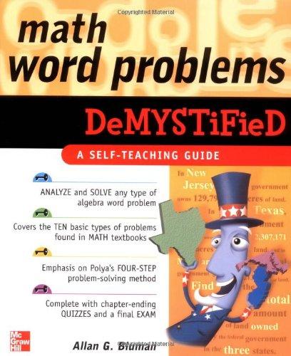 7th Grade Math Book Answers Math Word Problems Demystified