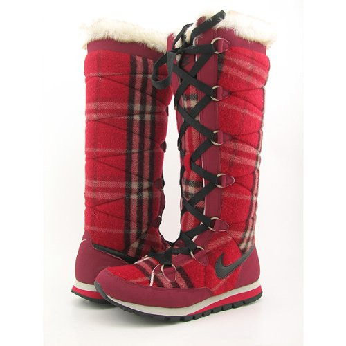 Perfect Nike Snow Boots Plus Velvet Winter Shoes For Women With Light Green