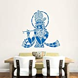 Hoopoe Decor Lord Krishna With Flute Wall Stickers And Decals - B011GV2QRQ