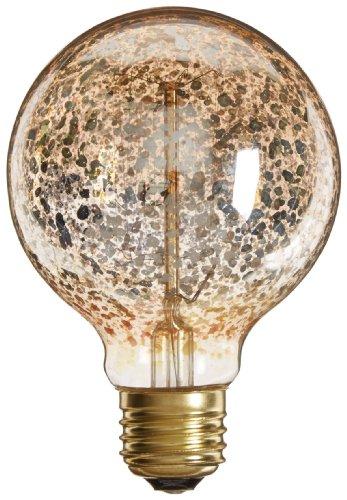 Heirlume Hl-6940Wpack12 Vintage Edison Bulb 40-Watt With Medium Base And Globe Shape, 12.8-Inch X 4.7-Inch, 12-Pack