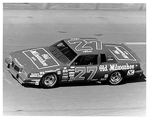 1985 Pontiac Old Milwaukee Blue Max Racing NASCAR Photo Poster (Nascar Pontiac compare prices)