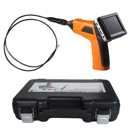 "4.5mm Waterproof LED Lens Plumbing Sewer Inspection Camera with Detachable Wireless 3.5"" TFT-LCD Monitor Borescope Endoscope for Surveying Pipes or Small Hard-to-reach Places, Equipment, Furnishing Installation"