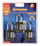 SQUIRE - CTL30TR - PADLOCK 30MM TOUGHLOK COMBINATION 3 PACK