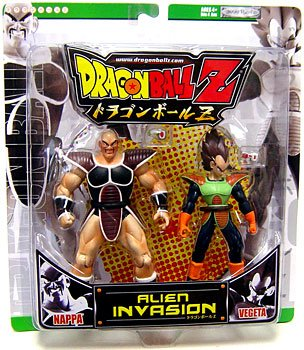 Buy Low Price Jakks Pacific Dragonball Z Alien Invasion Action Figure 2Pack Vegeta Nappa Green Package (B000XOEFF4)