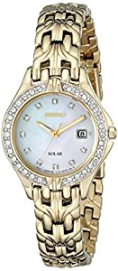 "Seiko Women's SUT086 ""Excelsior"" Stainless Steel Swarovski Crystal-Accented Solar Watch"