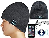 eBest Bluetooth Music Beanie; Washable Wireless Hat Cap with Built-in Stereo Speakers; Outdoor Sports & Travelling; Bluetooth Headphones Headsets Earphone W/microphone Hands Free Phone Calls for Any Smart Phones Bluetooth Devices (Black)