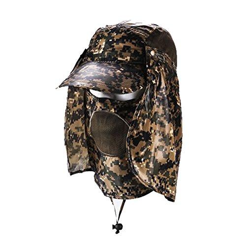 MEICHEN-Outdoor sun protection Hat Camo jungle cappelli all'aperto fisherman Hat Cappello da sole traspirante e ad asciugatura rapida Hat,blu verde