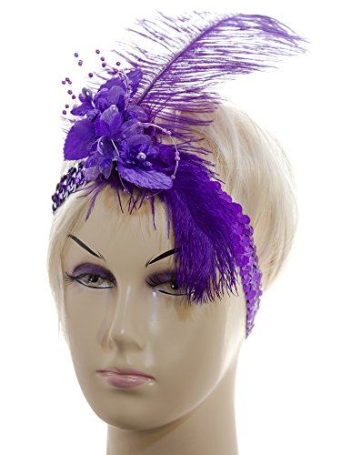 Linda-Anns-Purple-Flapper-Girl-Feather-and-Flower-Beads-Sequin-Headband