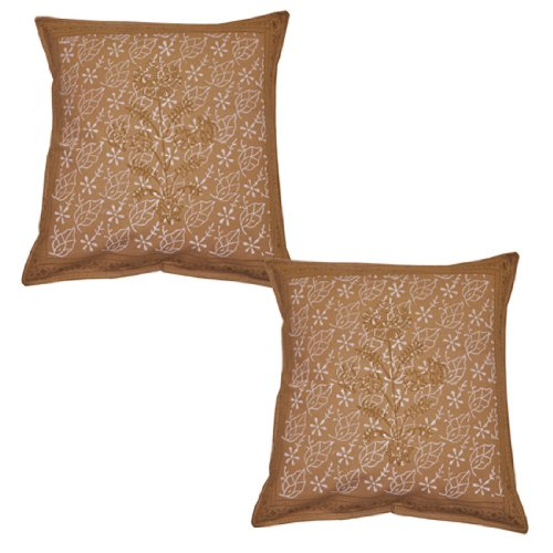 Handgefertigt Baumwolle Kissenbezug Block Print Kissenbezug 16von 40,6cm 2Pcs