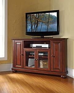 crosley furniture alexandria 48 inch corner tv stand vintage mahogany kitchen dining. Black Bedroom Furniture Sets. Home Design Ideas