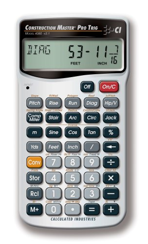 Calculated Industries 4080 Construction Master Pro Trigonometric Calculator