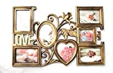 Empreus Elegant Gold 7 Photo Collage Frame