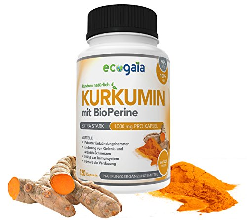curcumin mit bioperine 1000mg 120 eco gaia kurkumin kapseln curcuma longa antioxidantien. Black Bedroom Furniture Sets. Home Design Ideas