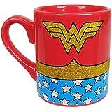 Wonder Woman Uniform Costume Ceramic Coffee Mug 14 oz, Glitter