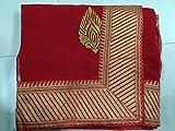 Fashion Shop Designer Fancy Red Georgette Partywear Wedding Saree Sari