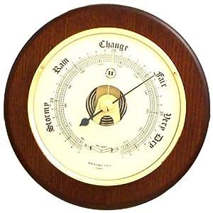 "Barometer on 5"" Cherry Wood"